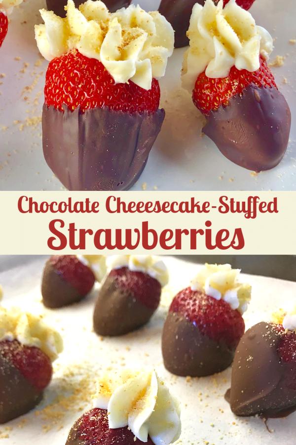 Chocolate-Dipped Cheesecake-Stuffed Strawberries make a luscious gift.