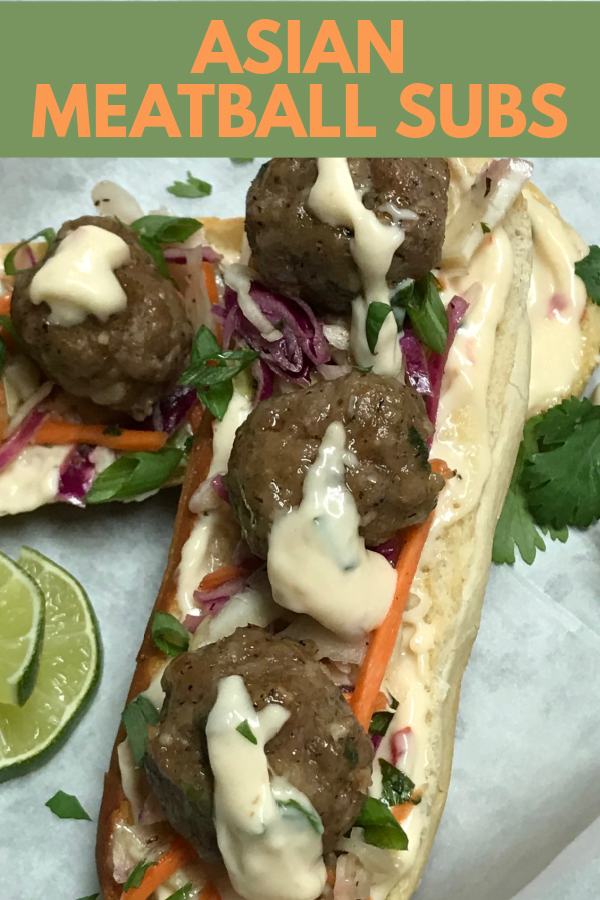 The most flavorful sandwich in the land - Asian Meatball Subs.