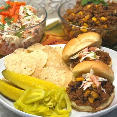 sloppy joes on a plate