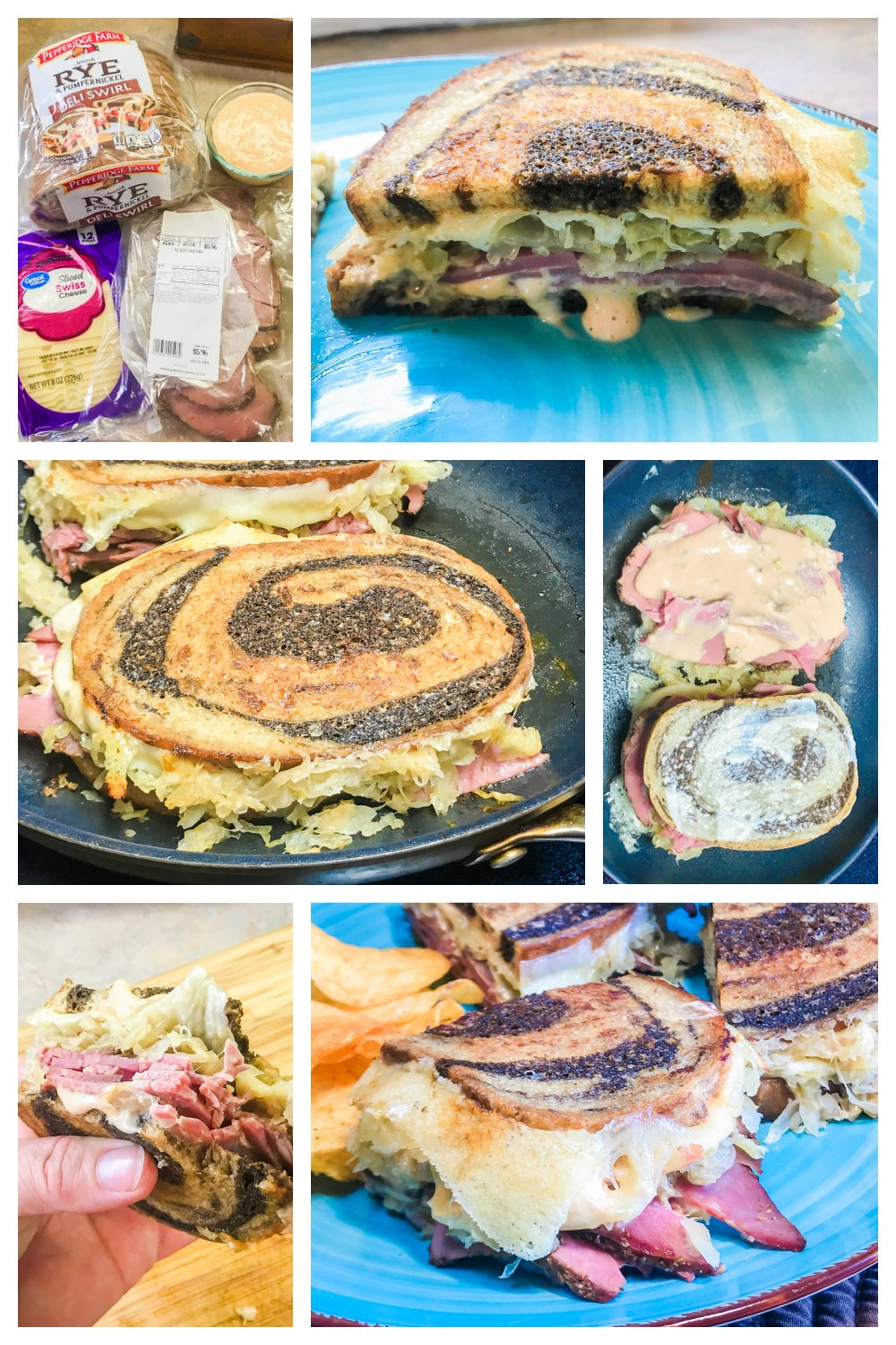 How to Make Grilled Reuben Sandwiches.