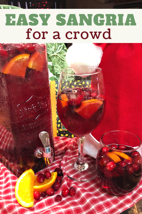 Spiced Sangria for holiday guests.