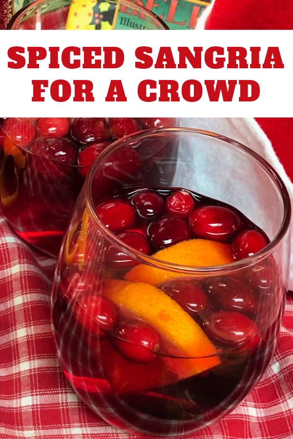 Enjoy making spiced sangria for your next holiday party.