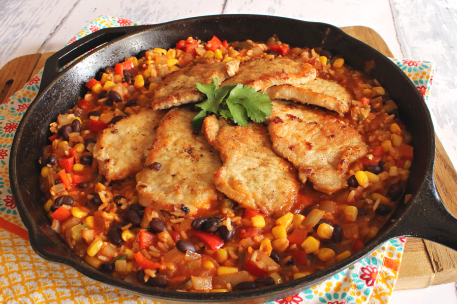 Crank up your cast iron skillet to make this quick and easy pork dish.