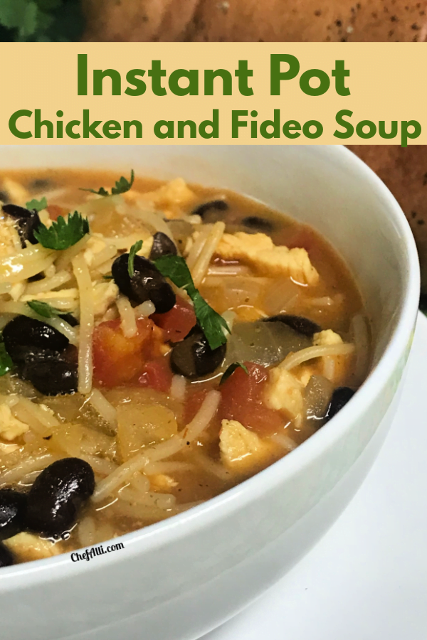 You'll be pleased at how easy and fast a batch of Chicken and Black Bean Fideo Soup hits the dinner table.
