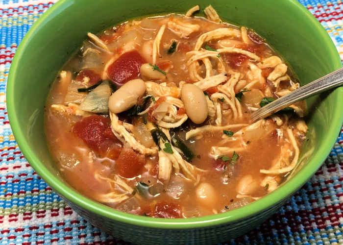Crank out an easy and flavorful soup - Rotisserie Chicken Soup!