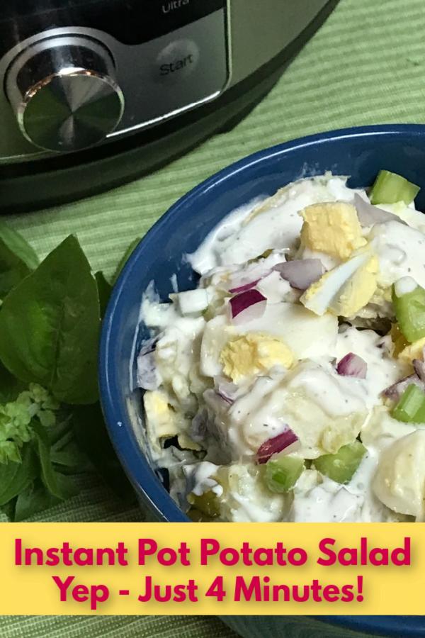 Big serving bowls of creamy potato salad are so hard to resist!