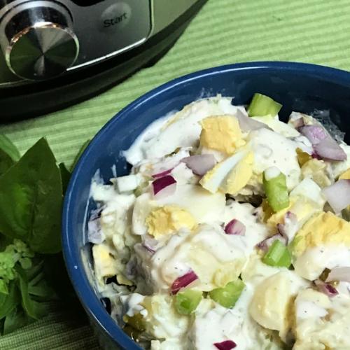 Instant Pot potato salad in just 4 minutes!