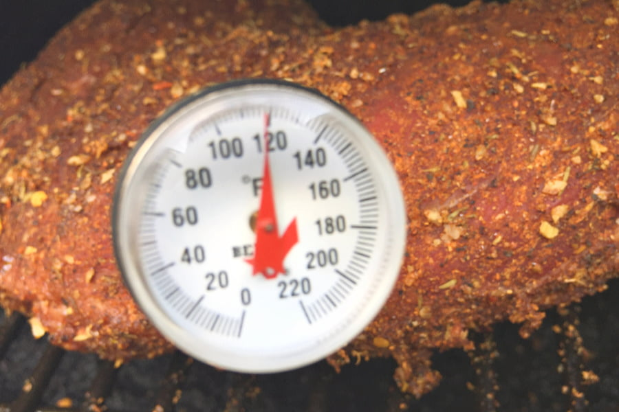 An instant-read thermometer is important for smoking tri tip.