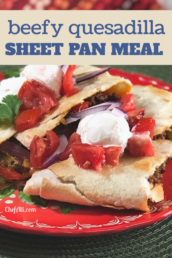 Customize your Sheet Pan Quesadillas with your favorite toppings.