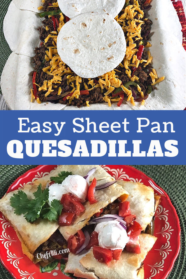 Easy Sheet Pan Quesadillas - one and done!