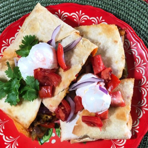 Sheet pan quesadillas make a quick and easy meal.