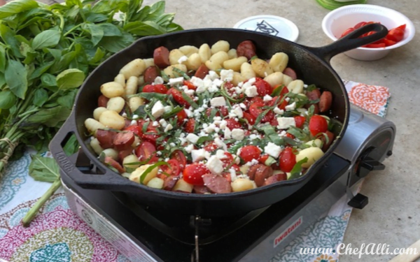 Summer Gnocchi and Sausage Skillet