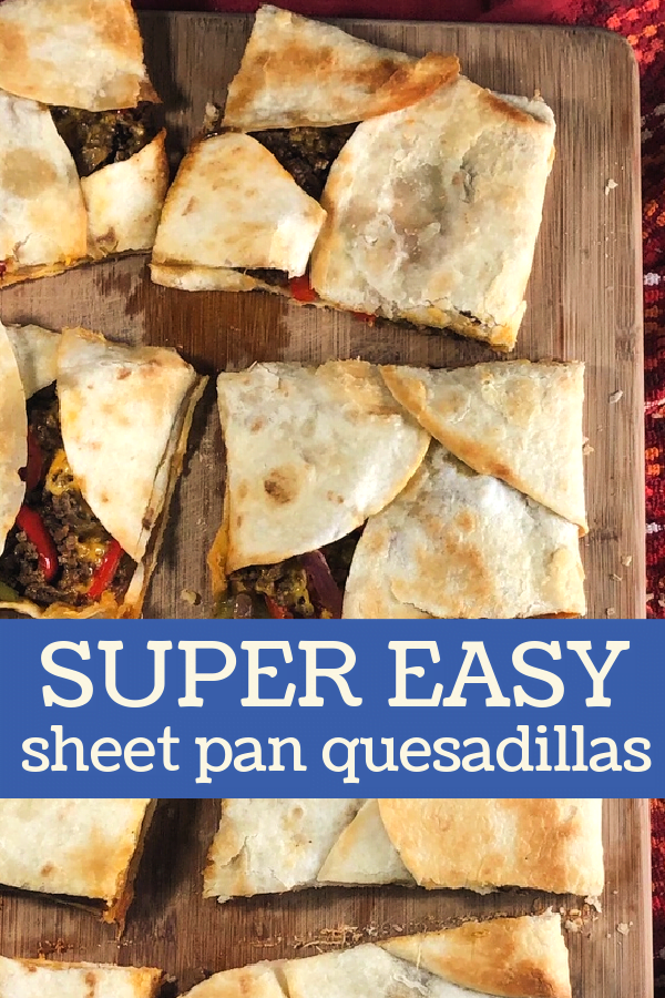 Cutting the sheet pan quesadillas with a pizza cutter works like a charm.