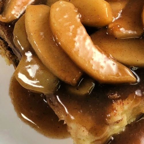 Caramel Apple French Toast is an easy breakfast for a gathering.