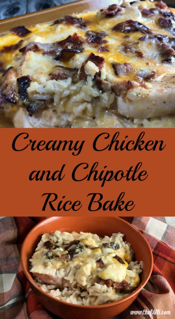 My fam went crazy went crazy over this creamy chicken and chipotle rice bake, but really, who wouldn't? It's a warm and comforting casserole that's easy to throw together from pantry ingredients that are usually on-hand for me. I like making this casserole ahead of time so I can bake it when my family needs a filling weeknight meal, hot from the oven.