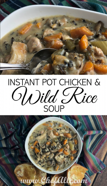You'll FALL in love with this Instant Pot Chicken and Wild Rice Soup
