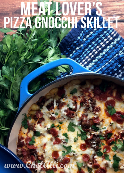 One-Pan Meat Lover's Pizza Gnocchi Skillet