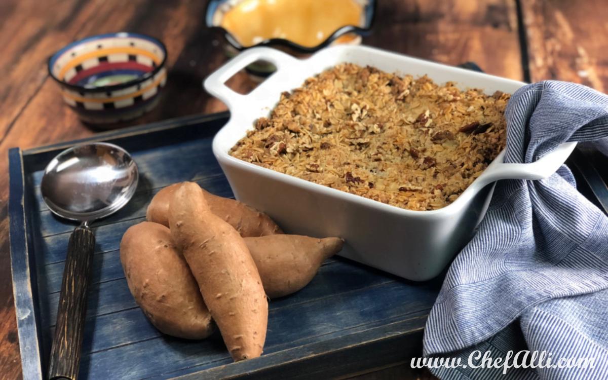 Baked Sweet Potato Crumble