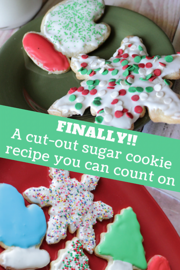 A cut-out sugar cookie recipe you can count on....finally!
