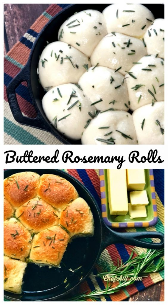Easy Homemade Rolls – made right in your favorite cast iron skillet. I dare you to make these just once! You will never use any other recipe…they are that easy and delicious. Scouts honor.