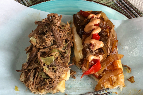 Please tell me you're in the mood for a seriously yummy shredded beef sub sandwich! Then tell me you've either got an Instant Pot (electric pressure cooker) or a slow cooker and I'll be over the moon!