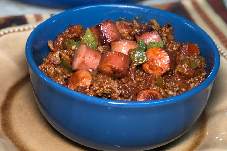We absolutely cannot stop eating this chili!  Chili-Dog-Chili Bowls are hearty, low-carb, no-beans and chock full of ground beef....the hot dogs are an added bonus. You are gonna love making this in your Instant Pot.