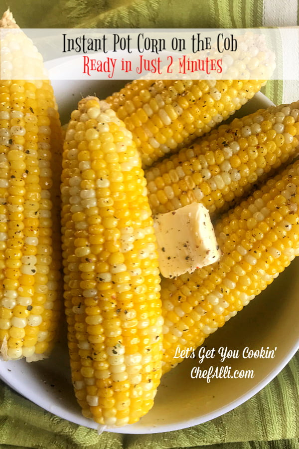 Instant Pot Corn on the Cob means one big thing: You will NEVER boil corn in a pot of water on the stove ever again! Making corn on the cob in an electric pressure cooker is the absolute easiest thing you'll ever make and it's so so delicious.