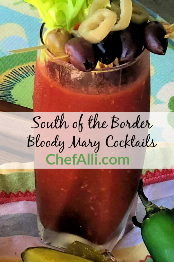 Who loves a good hair-of-the-dog Bloody Mary??? Talk about a delicious classic! This signature cocktail takes on a South of the Border twist by adding salsa to the mix. Salsa Bloody Mary Cocktails are sure to be a hit at your next gathering. #bloodymary #cocktails #salsa #signaturecocktails #tomatojuice #vodka