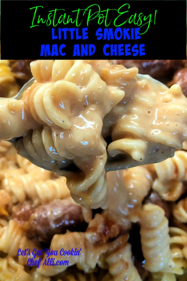 What could make a belly more happy than a big warm serving of cheesy, creamy mac and cheese?? This Instant Pot Little Smokie Mac and Cheese thrills my family to no end and I'm a happy camper because it only takes 5 minutes to cook in my electric pressure cooker!