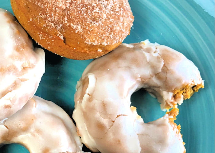 It isn't Fall with Baked Pumpkin Donuts.