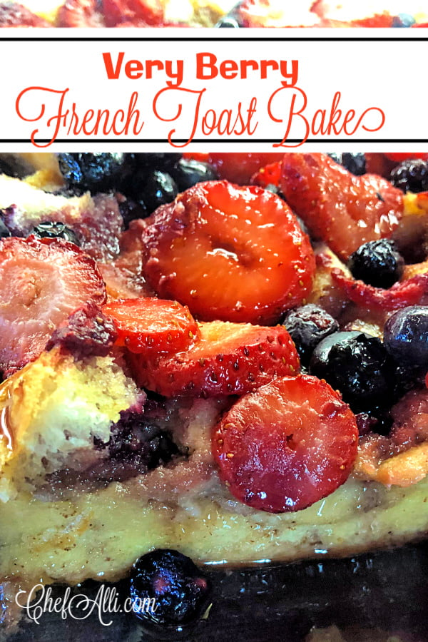 I swear, we could eat French toast casserole every single day and NEVER tire of it! Topped with sugared berries and orange zest, this overnight French toast casserole is definitely on our list of family favorites. I love how fuss-free this French toast bake is! You can assemble it the night before which saves lots of time in the morning, and it's so easy to double the recipe and bake two pans if you've got to feed a crowd. The fruit topping makes this Very Berry French Toast Casserole seem extra special. #FrenchToast #Breakfast #Brunch #BreakfastCasserole #BreakfastBake