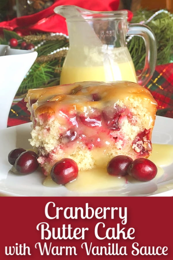 cranberry cake with sauce