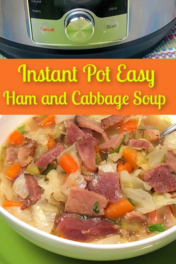 Easy Instant Pot Ham and Cabbage Soup uses leftover ham and vegetables.