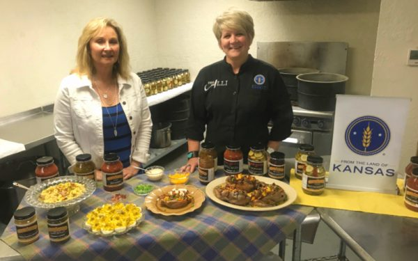 Tricia Holmes of Holmes-Made Salsa made a great cooking segment guest.