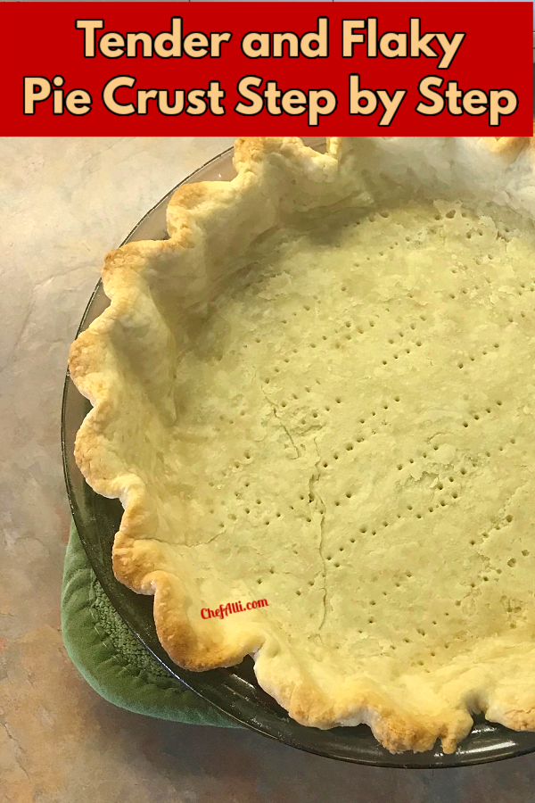 It's good to know how to make tender flaky pie crust.