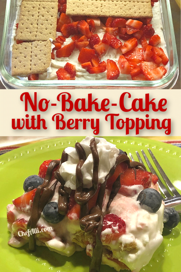 It's fun to make No-Bake Berry Cake for your guests.