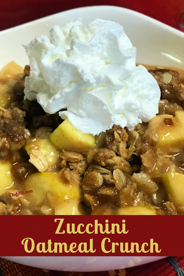 """What's more delightful than a warm bowl of Zucchini """"Apple Crisp""""?"""