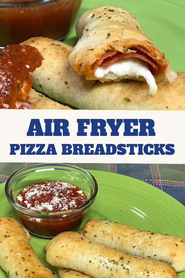 Crank out a golden brown batch of Air Fryer Pizza Breadsticks.