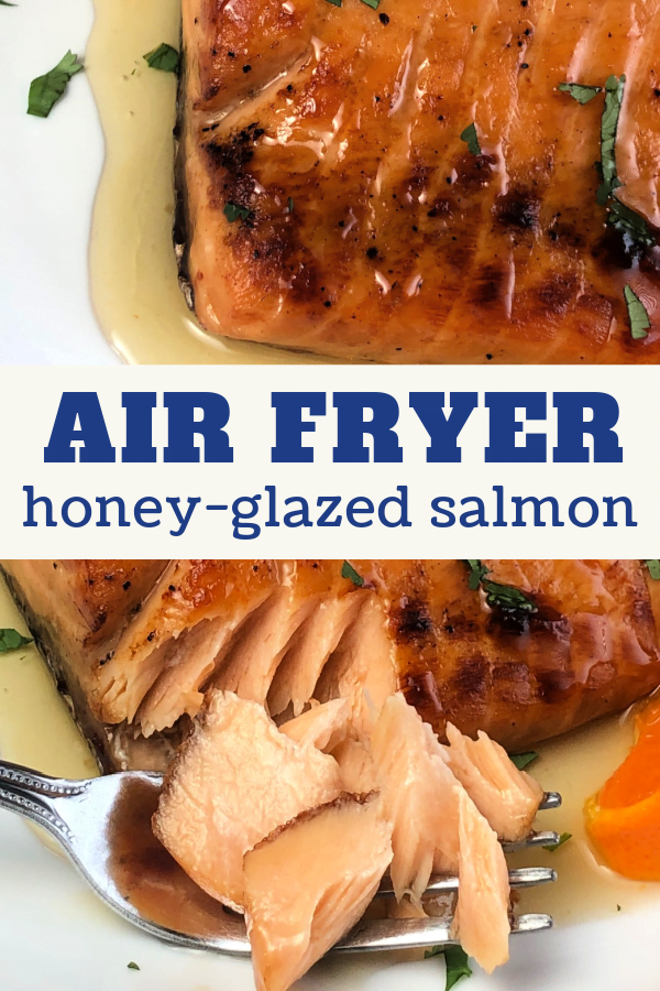 Make Honey Glazed Salmon in your air fryer tonight.