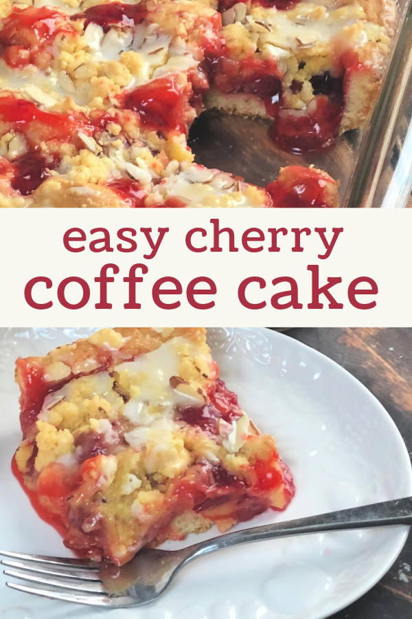 Your family will flip over warm cherry coffee cake.