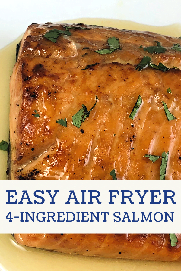 Air Fryer Honey-Glazed Salmon is fast and easy to cook as an entree.