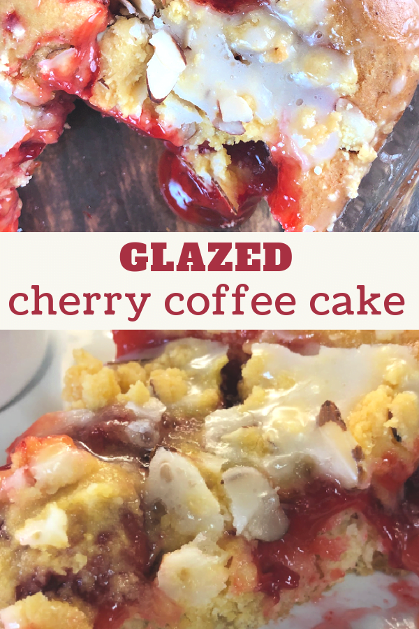 Warm and wonderful - Cherry Coffee Cake.