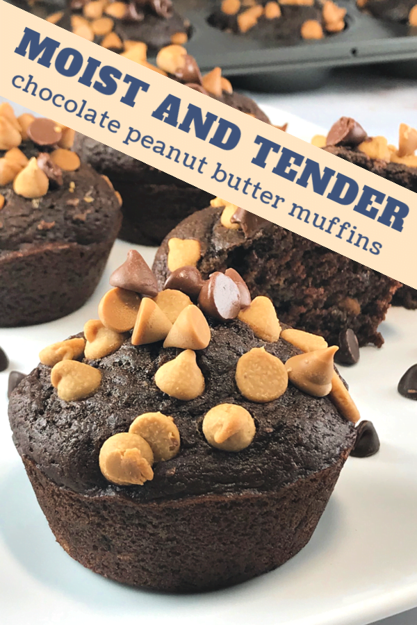 Chocolate Peanut Butter Muffins - perfect for brunch or tea time.