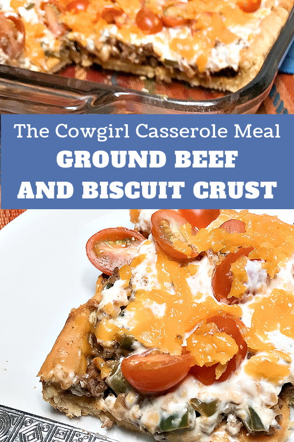 A slice of the Creamy Cowgirl Casserole Meal on a white platae.