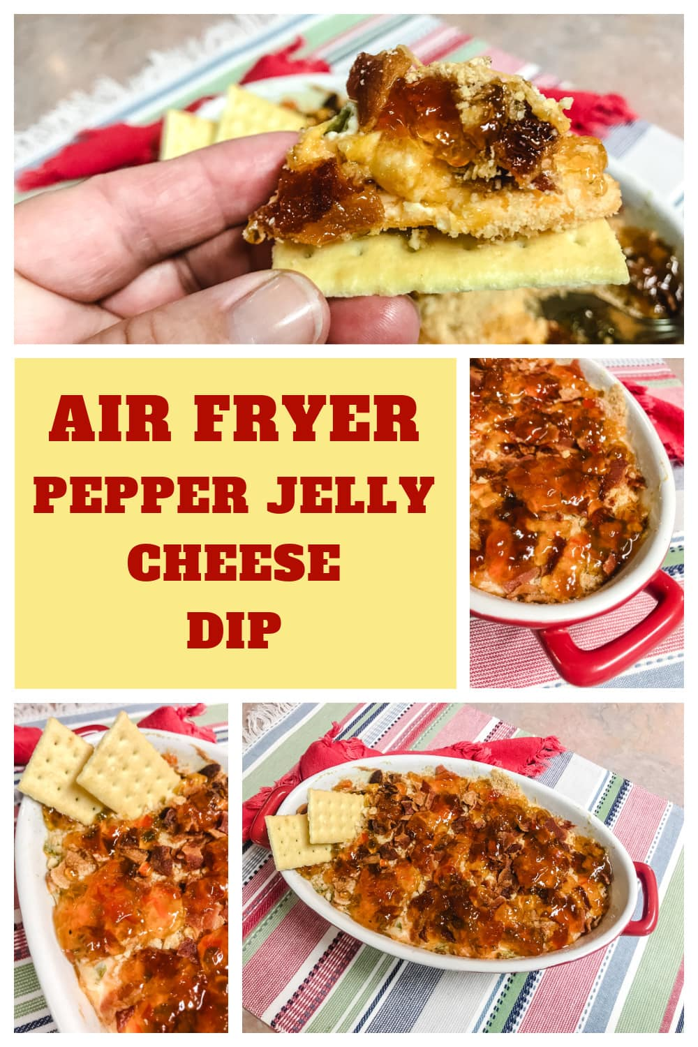 Air Fryer Pepper Jelly Cheese Dip with Craackers